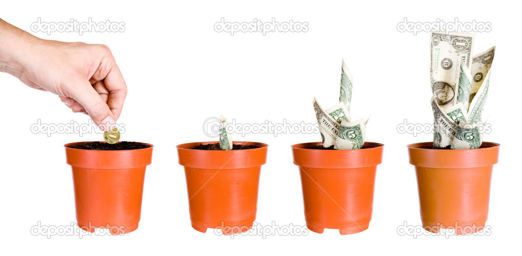 Growth of incomes. Isolated on a white background. — Stock Photo #7094757