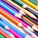 Color pencils background — Stock Photo