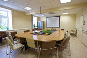 Business meeting room in office — Стоковое фото