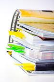 Uma pilha de revistas — Fotografia Stock