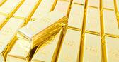 Fine gold 999,9. — Stock Photo