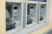 Three cash dispenses — Foto de Stock