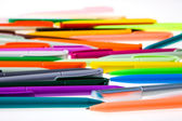 Multi-colored plastic pens — Stock Photo