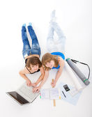 Two students prepare for employment — Stock Photo