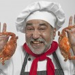 Chef with crabs — Stockfoto