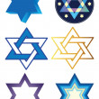 Stock Vector: Vector star of david