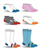 Illustration with colorful socks — Stock Vector