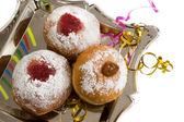Donuts für hanukkal — Stockfoto