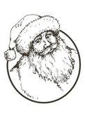 Navidad santa claus — Vector de stock