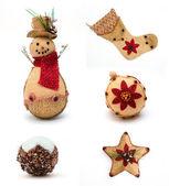 Set of the christmas vintage toys — Stock Photo