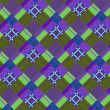 Royalty-Free Stock Vector Image: Violet-green plaid fabric
