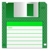 Green Floppy Disk — Stock Photo