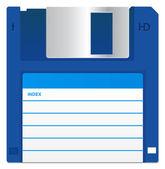 Blue Floppy Disk — Stock Photo