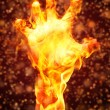 Stock Photo: Burning arm