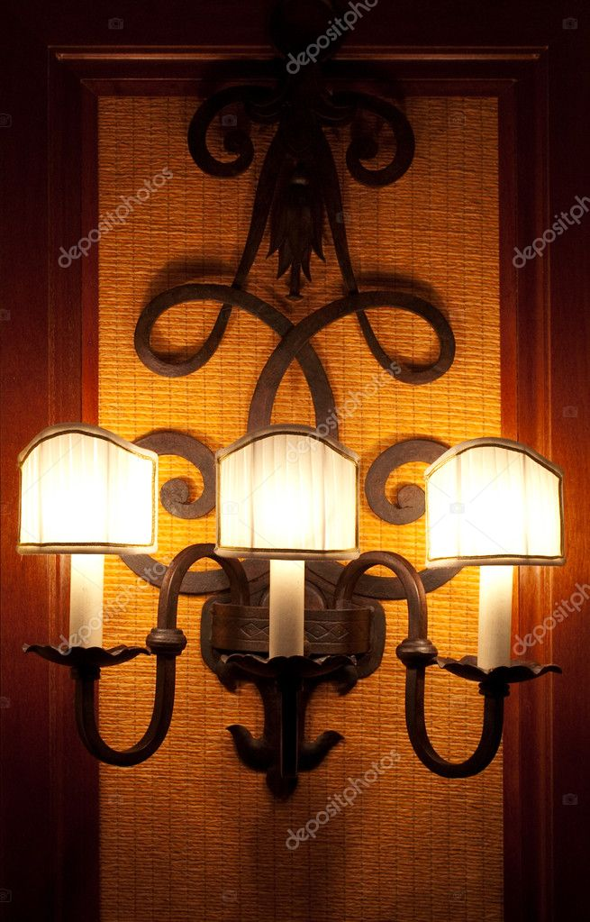 The lamp on the wall — Stock Photo #6825581