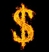 Fire dollar — Stock Photo