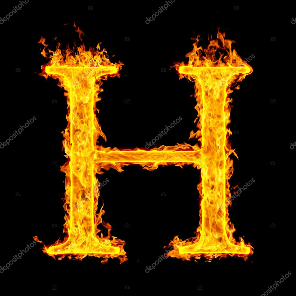 Vector image of Letter H fire font 149851 includes graphic collections of h and letter You can download this image in EPS and JPG format