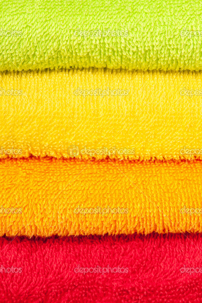 Color convolute towels — Lizenzfreies Foto #7492280
