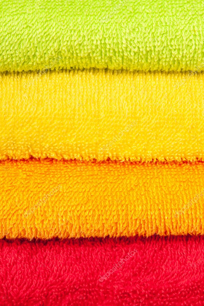 Color convolute towels  Stock Photo #7492280