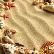 Shells and stones on sand — Stock Photo #7542874
