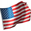 American flag over white background — Stock Photo