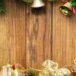 Christmas fir tree with christmas decoration — Stok fotoğraf