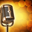 Retro microphone — Foto Stock