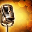 Stock Photo: Retro microphone