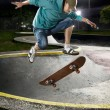 Skate boarder jumping - 