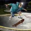 Skate boarder jumping - Stock Photo