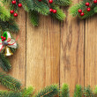 Christmas fir tree with christmas decoration — Stock Photo