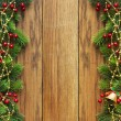 Christmas fir tree with decoration — Stock Photo #7544165