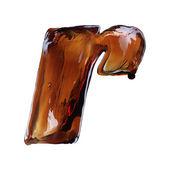 Cola splash letter — Stock Photo