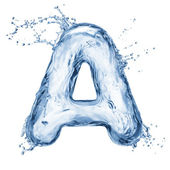 Letter of water alphabet — Stock Photo