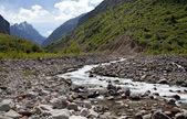 Górski krajobraz. wąwóz belagorka, kirgistan — Zdjęcie stockowe