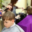 Boy in hairdressing salon — Stock Photo #7423590