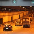 Cars in tunnel — Stock Photo