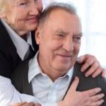 portrét starší pár — Stock fotografie