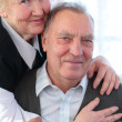 Portrait of elderly pair — Stockfoto