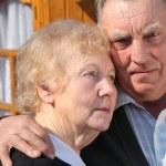 Portrait of elderly couple closeup — Stock Photo
