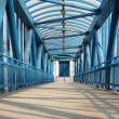 Blue footbridge — Stock Photo