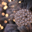 Christmas decorations and lights on New Year tree — Stock Photo #7424433