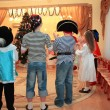 Children on New Year's holiday in kindergarten — Stock Photo