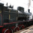 Stock Photo: Steam locomotive, side view