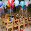 Celebratory table in kindergarten — Stock Photo #7424922