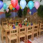 Celebratory table in kindergarten — Stock Photo