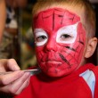 Boy painted as spiderman — Stock Photo #7424925