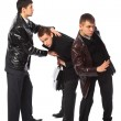 Stock Photo: Two bodyguards protect businessman