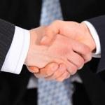 Businessmen handshake — Stock Photo