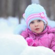 Little girl in snow — Stock Photo #7425659